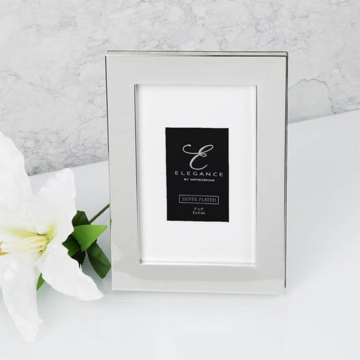 Elegance By Impressions Silver Plated Premium Photo Frame with Gift Box