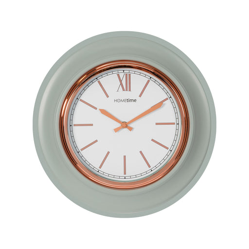 Hometime 36cm Retro Grey & Rose Gold Wall Clock