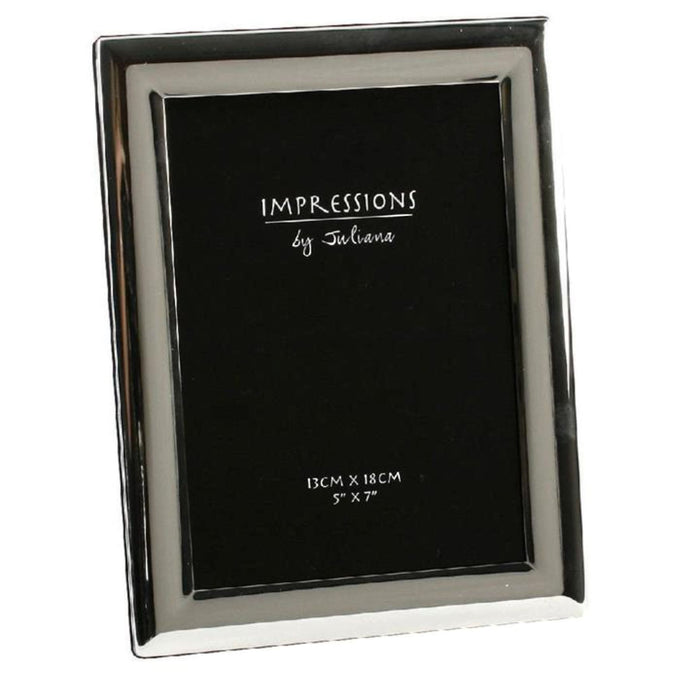 "Impressions Silverplated Curved Edge 5"" x 7"" Photo Frame"