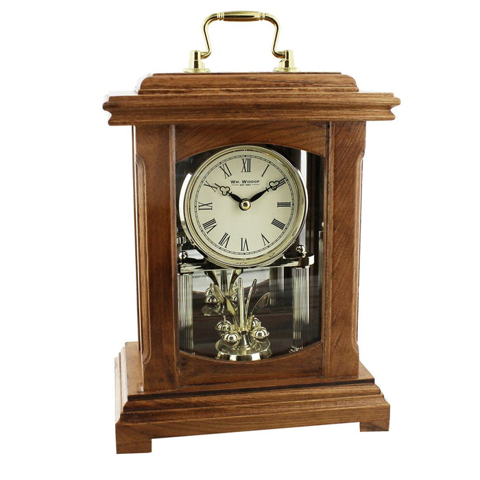 Wm.Widdop Light Wood Lantern Style Mantel Clock