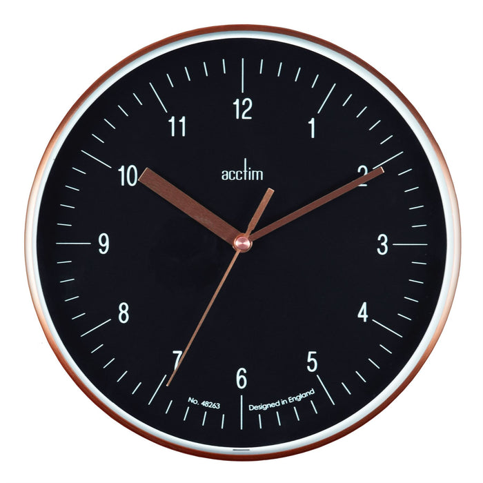 Acctim Colt Copper & Black 20cm Wall Clock