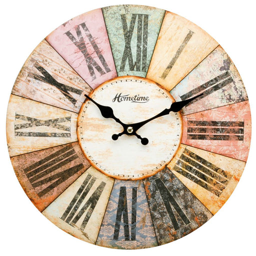 Hometime Multi-Coloured Roman Dial 30cm Wall Clock