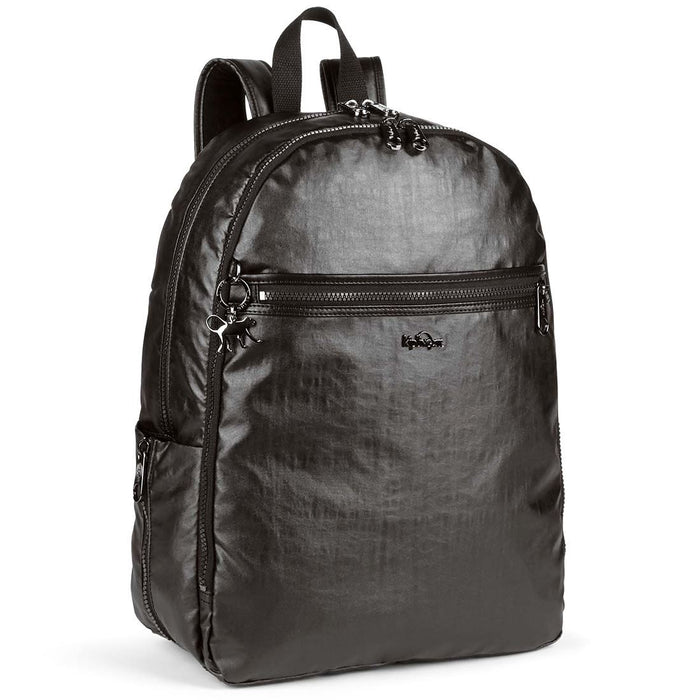 Kipling Deeda Shiny Metallic Black Backpack
