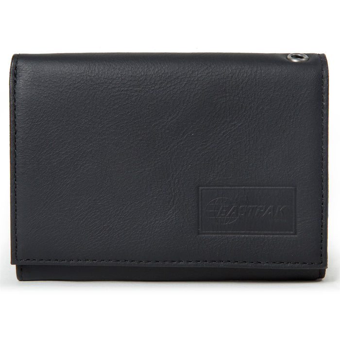 Eastpak Crew Black Ink Leather Wallet