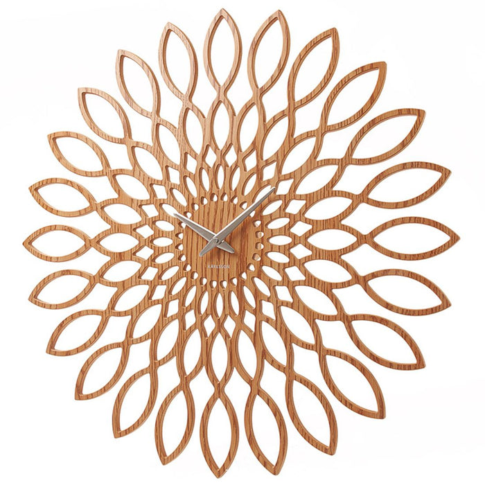 Karlsson Sunflower Light Wood Finish 60cm Wall Clock