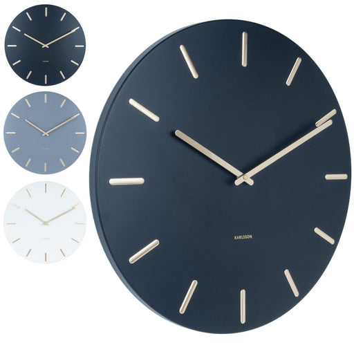 Karlsson Charm Steel With Battons 45cm Wall Clock