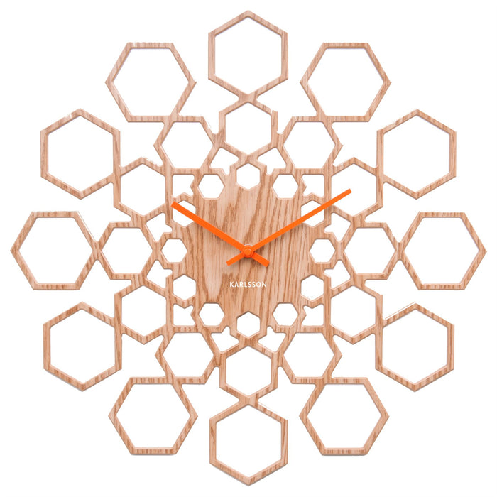 Karlsson Sunshine Hexagon 40cm Wall Clock