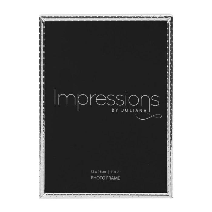 Impressions Nickel Plated Dot Pattern Photo Frame