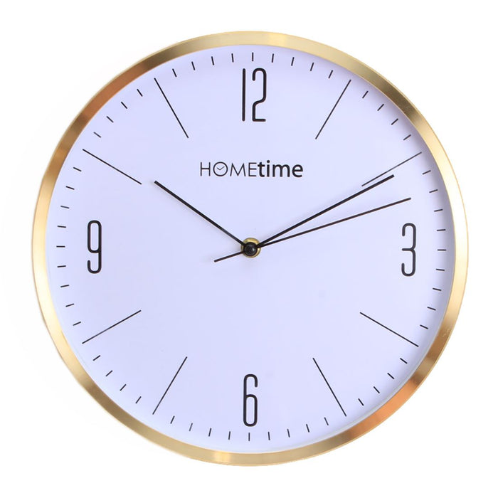 Hometime Gold Finish 30cm Wall Clock