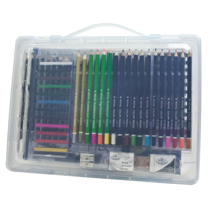 Royal & Langnickel Open Clear Case Art Sets with Storage Case
