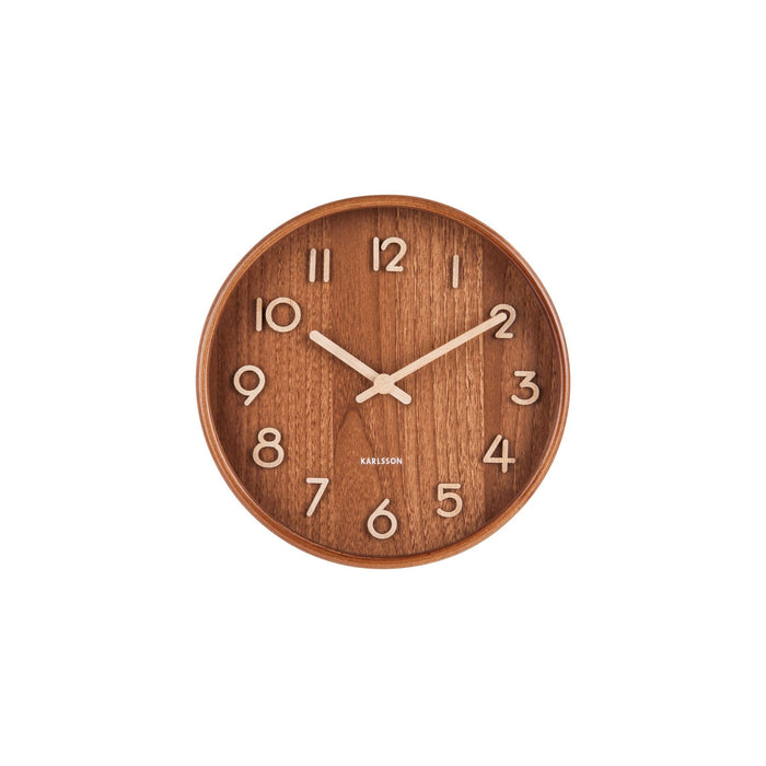 Karlsson Pure Basswood 22cm Silent Wall Clock