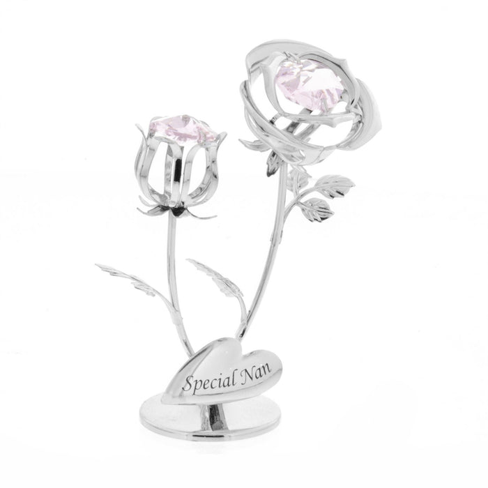 Crystocraft Double Rose Swarovski Crystal Ornament