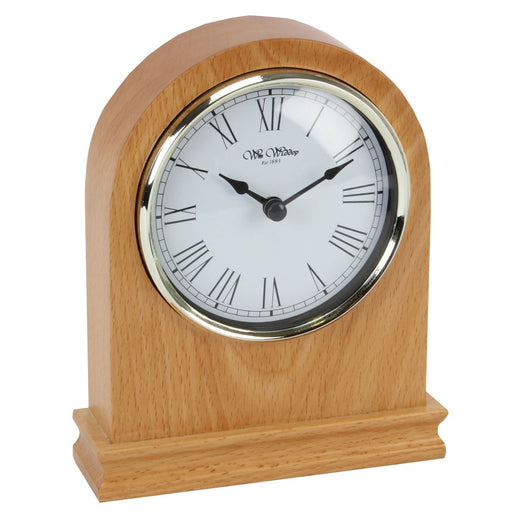 Wm.Widdop Arched Wooden Mantel Clock