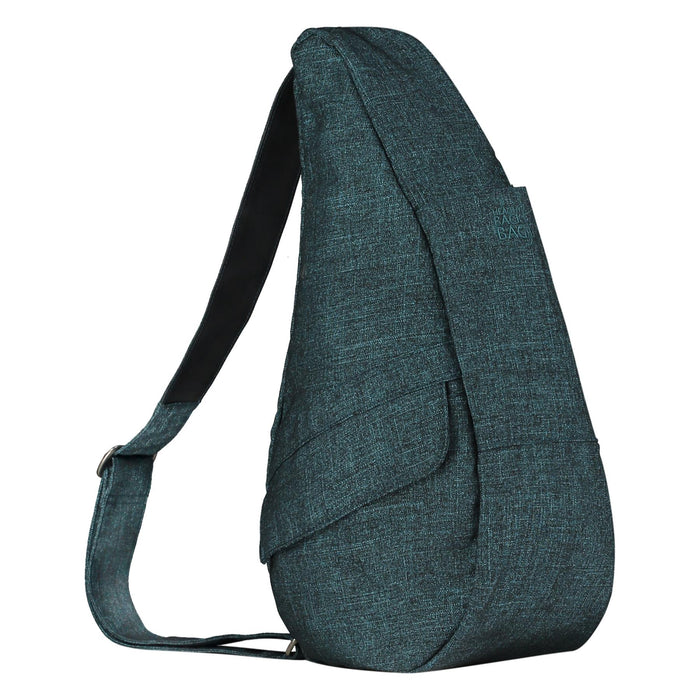 Healthy Back Bag Metallic Twill Teal Small Shoulder Bag