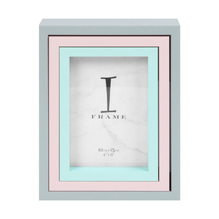 iFrame Set of 3 Grey / Pink / Blue Photo Frames