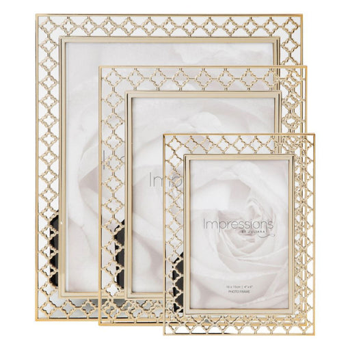 Impressions Lattice Cut Metal Photo Frame