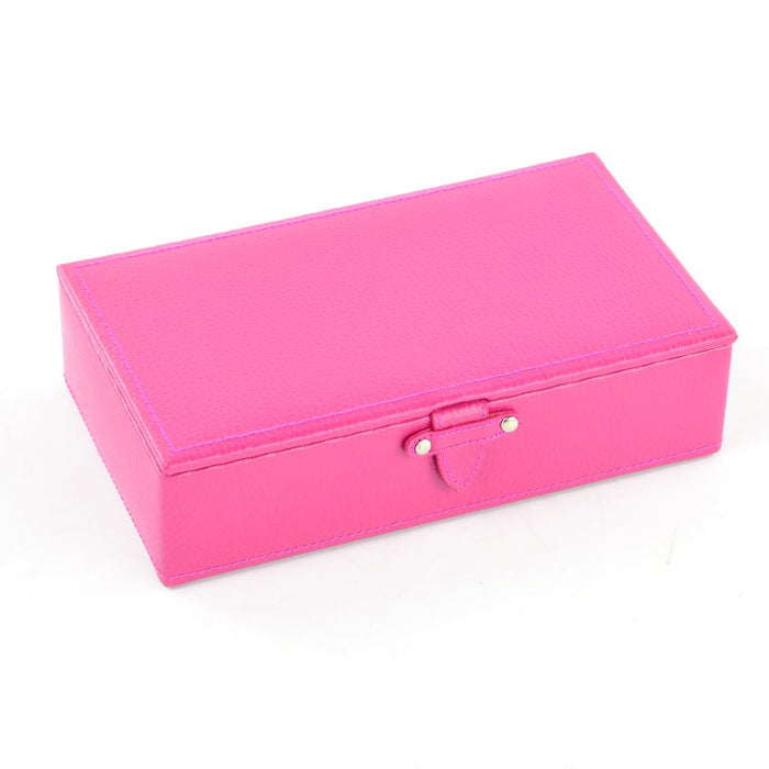 Dulwich Designs Boutique Hot Pink w/ Purple Lining Small Jewellery Box