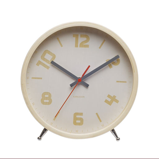 Karlsson Numbers Wood 23cm Light Wood Table Clock