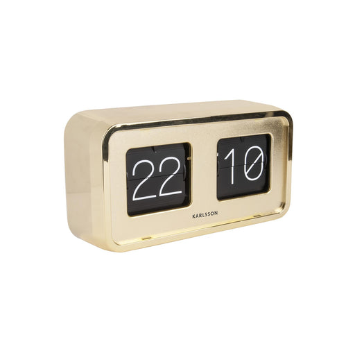 Karlsson Bold Flip Gold Plated Table / Mantle Clock