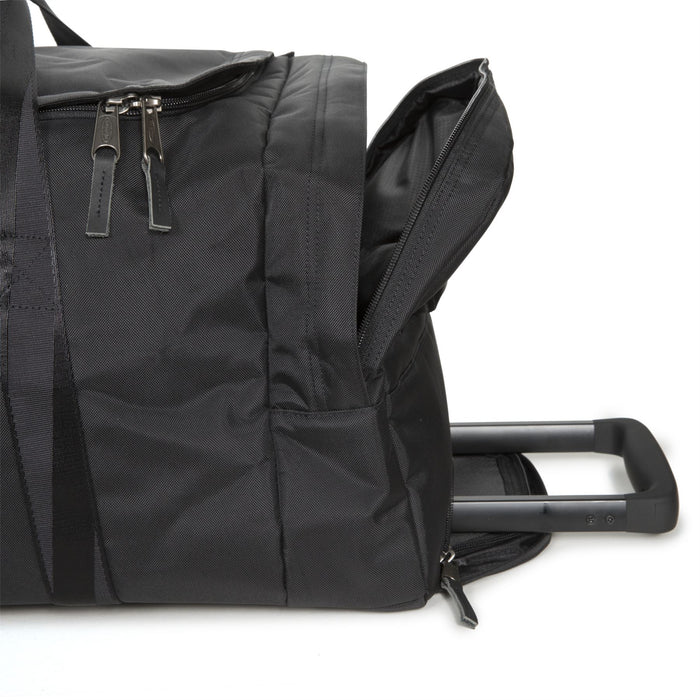 Eastpak Leatherface M Constructed Black Rolling Holdall