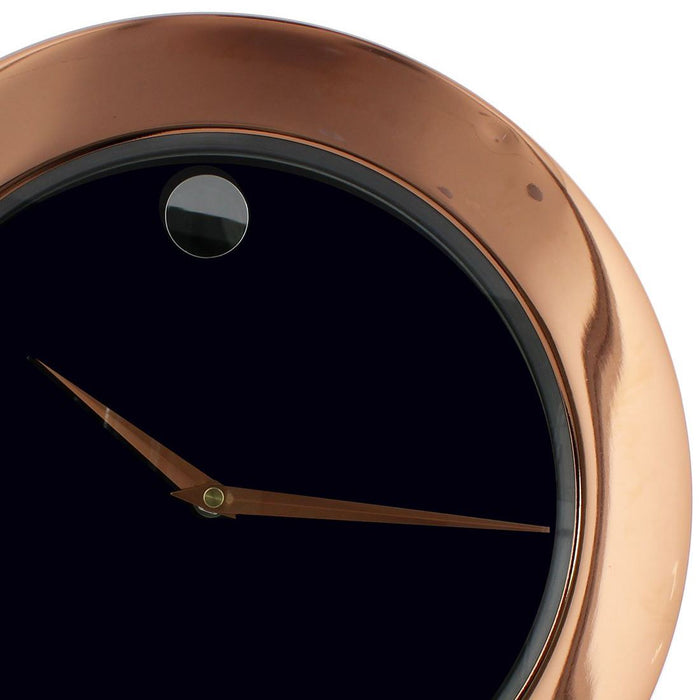 William Widdop Rose Gold Metal Finish Plain Dial Wall Clock