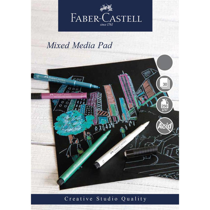 Faber Castell Creative Studio 30 Sheet Black Mixed Media Paper Pad