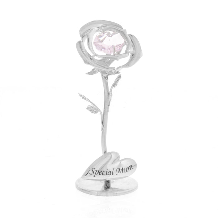 Crystocraft Celebration Rose Swarovski Crystal Ornament