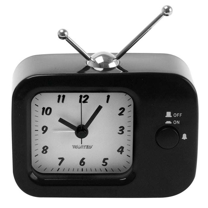 Silly Gifts Retro Style Television / TV Black Metal Alarm Clock