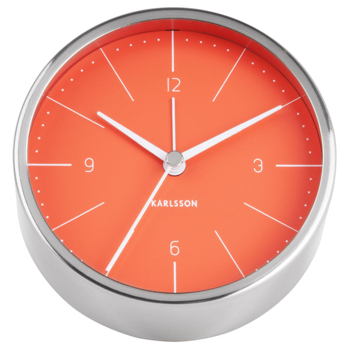 Karlsson Normann Brushed Steel Alarm Clock