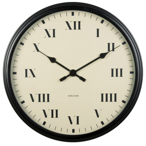Karlsson Old Times Black Roman Numerals 42cm Wall Clock