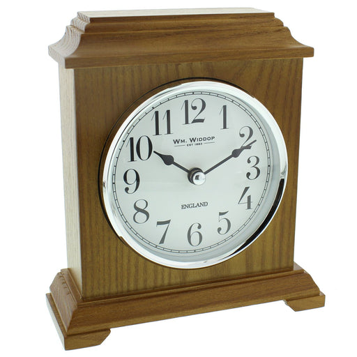 William Widdop Napoleon Oak Finish Wooden Mantel Clock