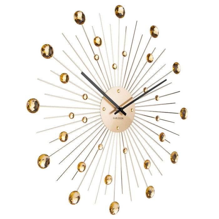 Karlsson 50cm Sunburst Crystal Wall Clock