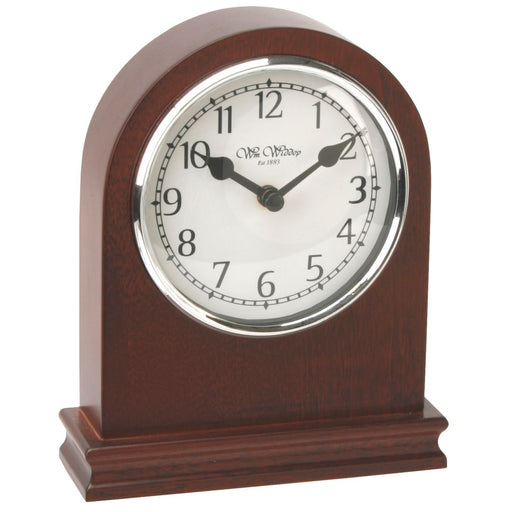 Wm.Widdop Walnut Wood Arched Mantel Clock