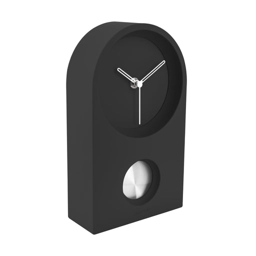 Karlsson Taut Rubberized Silent Pendulum Wall & Mantel Clock