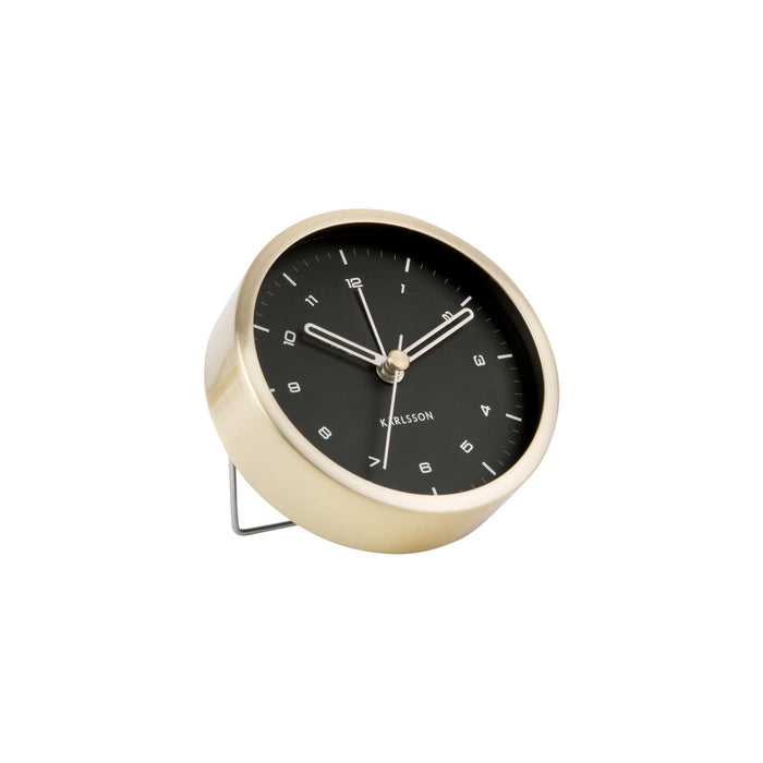 Karlsson Tinge Brushed Steel Alarm Clock