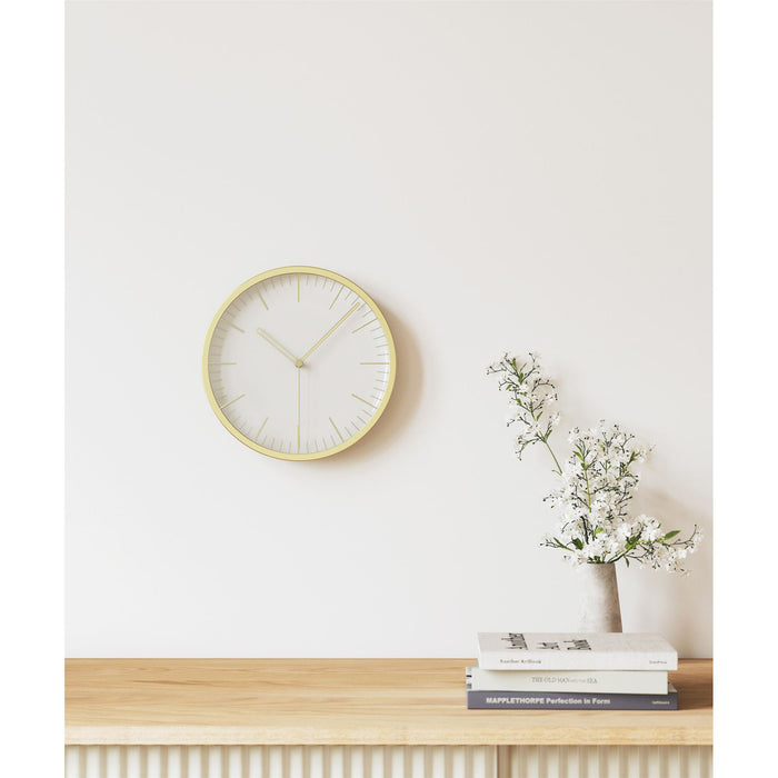 Umbra Infinity Matt Brass Tabletop and Wall Clock