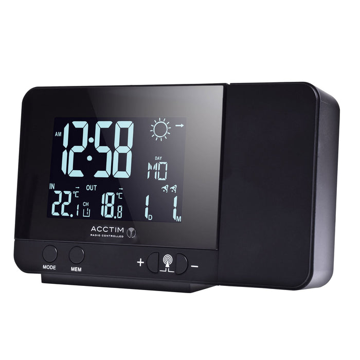 Acctim Sirius Black Weatherstation & Alarm Clock