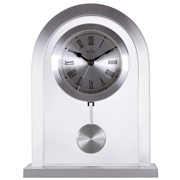 Acctim Bathgate Silver Mantel Clock