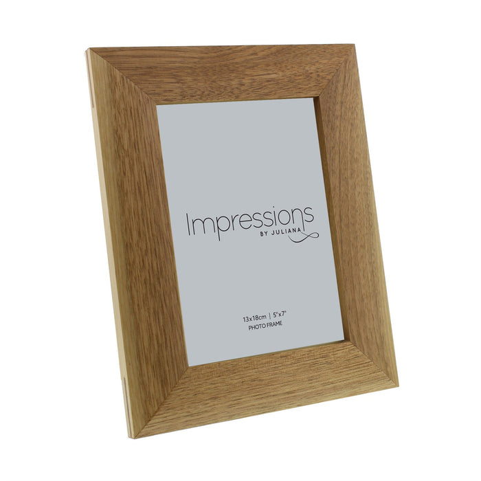 Impressions Oak Effect Wooden Photo Frame
