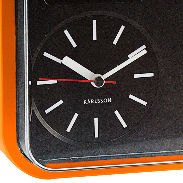Karlsson Mini Flip 24.5cm Square Retro Wall Clock