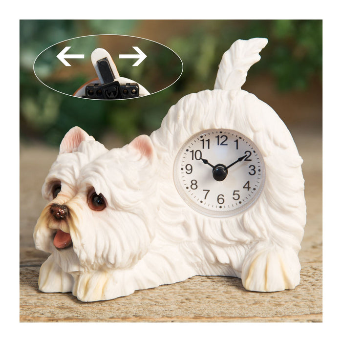 Best of Breed Dog or Cat Mantle Clock with Wagging Tail