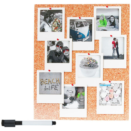 Silly Gifts Cork Board Polaroid style 9 Picture Photo Frame