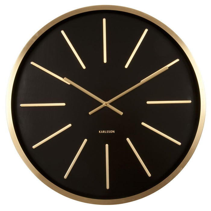 Karlsson Maxiemus Brass 60cm Large Station Wall Clock Aspen Of