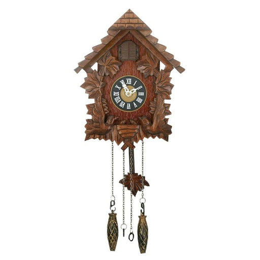 Wm. Widdop Wooden Pitched Roof Cuckoo Clock