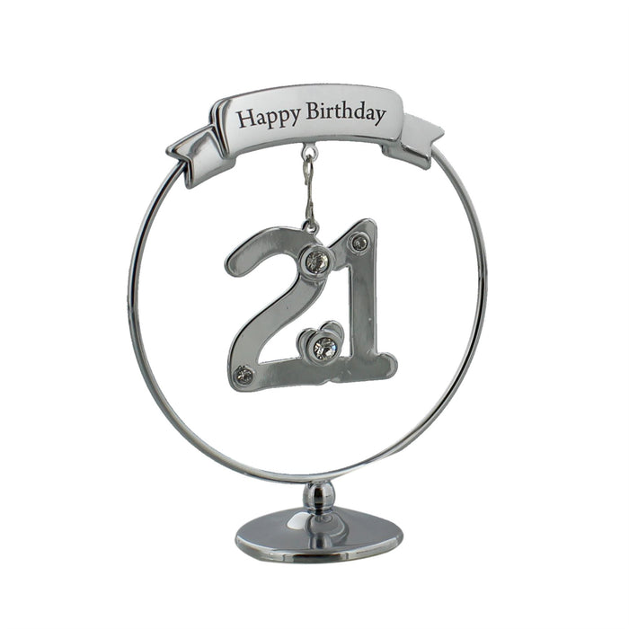 Crystocraft Happy Birthday Swarovski Crystal Ornament