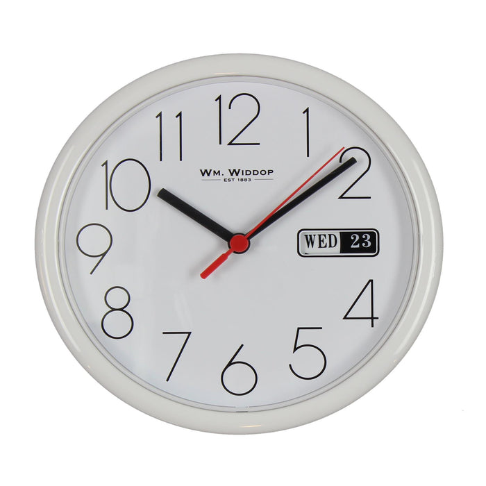 WM. Widdop 21.5cm Day Date Wall Clock