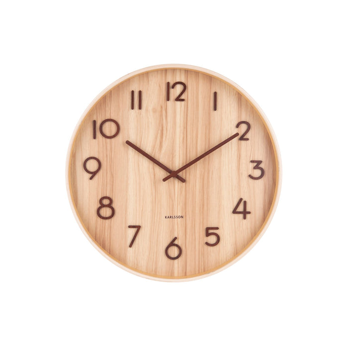 Karlsson Pure Basswood 40cm Silent Wall Clock