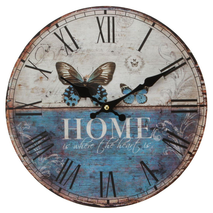 Hometime Shabby Chic 30cm Wall Clock