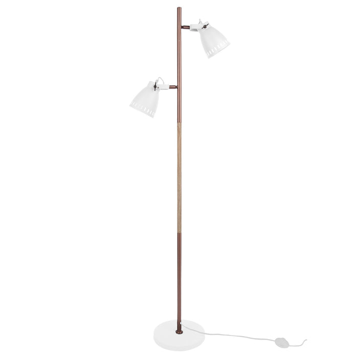 Leitmotiv Mingle Metal & Wood Floor Lamp