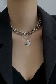 Caitlin Silver Chain Layered Necklace